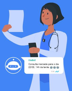 Chatbot no WhatsApp para área da saúde